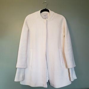 SALE❣️Zara long white vegan wool coat